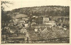VILLAGE FROM WOODS