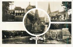 5 insets THE BEAR INN/THE CHURCH/THE OLD MONUMENT/GENERAL VIEW/theseven springs