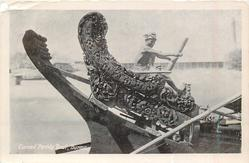 CARVED PADDY BOAT