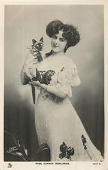 MISS GAYNOR ROWLANDS with cat
