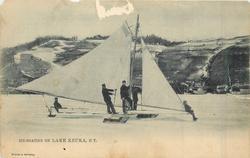 ICE-BOATING ON LAKE KEUKA