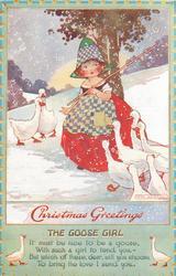 CHRISTMAS GREETINGS  geese