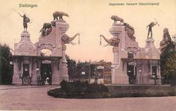 HAGENBECKS TIERPARK (HAUPTEINGANG)  zoo gates