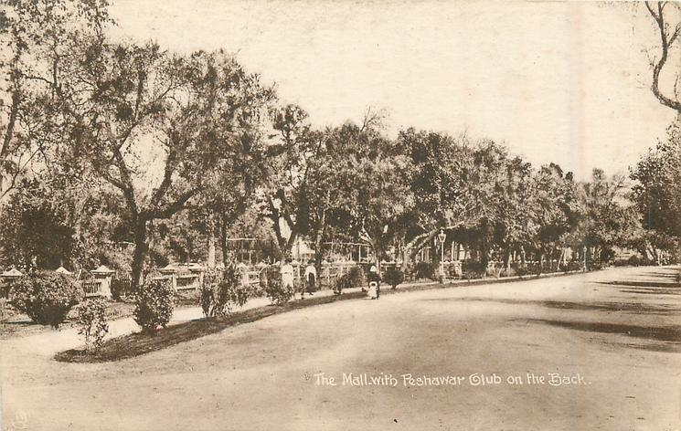 THE MALL WITH PESHAWAR CLUB ON THE BACK