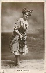 MISS JEAN AYLWIN paddling in sea