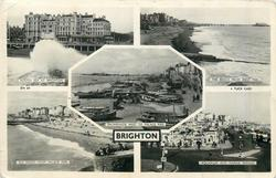 5 insets ROUGH SEA AT BRIGHTON/THE BEACH FROM WEST PIER/PROMENADE WEST OF PALACE PIER/AQUARIUM AND MARINE PARADE
