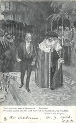 PRESIDENT LOUBET WITH THE LORD MAYOR AT THE GUILDHALL JULY 7TH. 1903