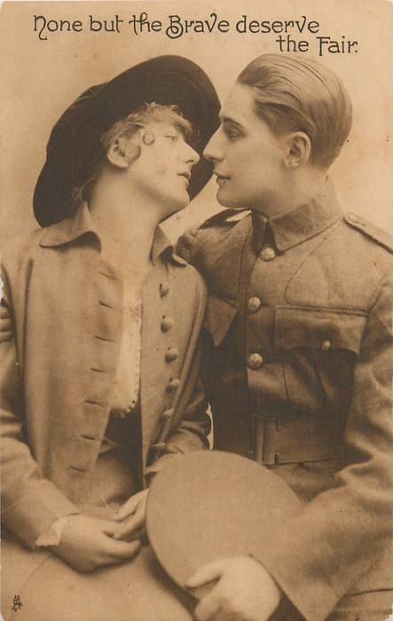 NONE BUT THE BRAVE DESERVE THE FAIR they almost kiss, sitting side by side