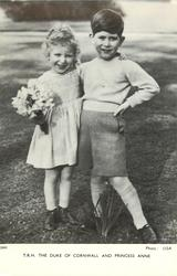 T.R.H. THE DUKE OF CORNWALL AND PRINCESS ANNE