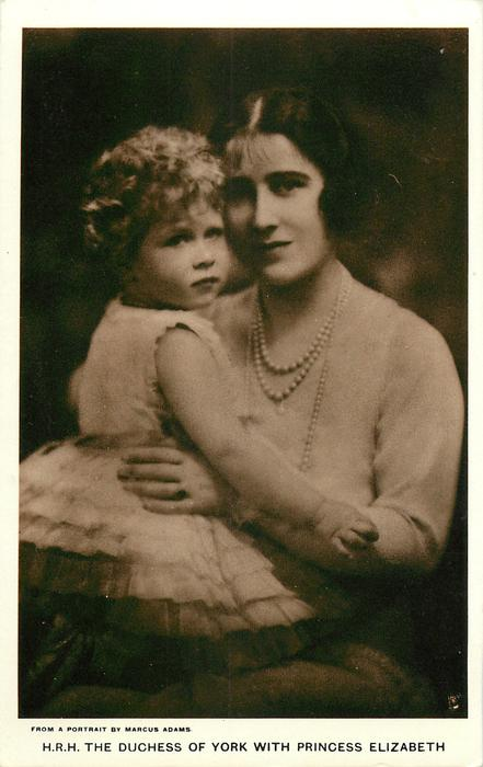 H.R.H THE DUCHESS OF YORK WITH PRINCESS ELIZABETH
