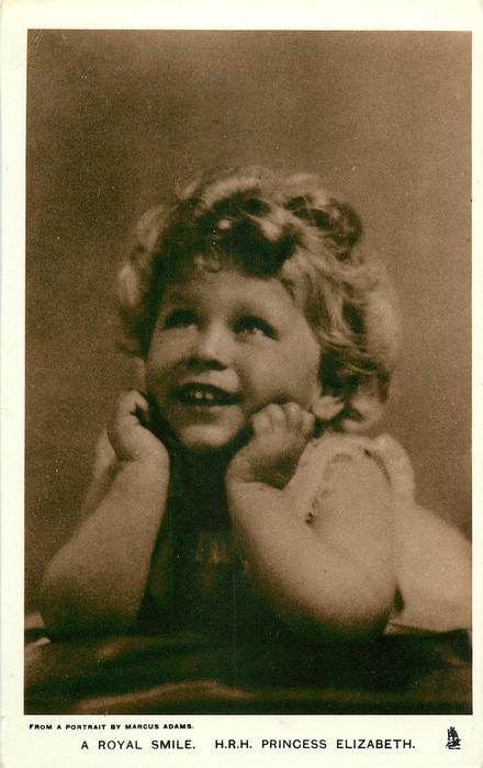 A ROYAL SMILE. H.R.H. PRINCESS ELIZABETH