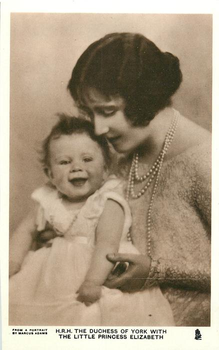 H.R.H THE DUCHESS OF YORK WITH THE LITTLE PRINCESS ELIZABETH