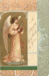A HAPPY CHRISTMAS TO YOU  angel on left of card plays music