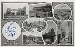 crest & 7 insets THE ABBEY/EAST CLIFF/THE PIERS/THE HARBOUR/THE VIADUCT/THE ABBEY/AN OLD ABBEY