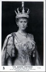 THE QUEEN -EMPRESS IN CORONATION ROBE AND CROWN