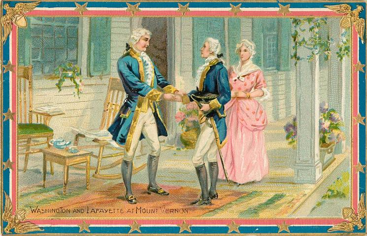 WASHINGTON AND LAFAYETTE AT MOUNT VERNON