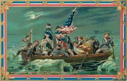 WASHINGTON CROSSING THE DELAWARE DEC 25TH, 1776