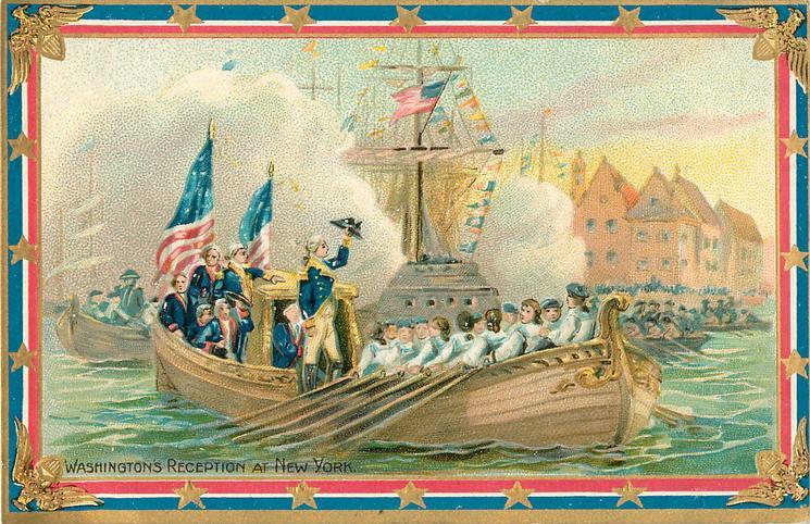 WASHINGTON'S RECEPTION AT NEW YORK