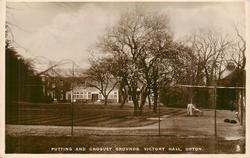 PUTTING AND CROQUET GROUNDS VICTORY HALL