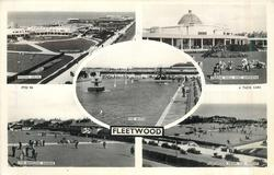5 insets  MARINE DRIVE/MARINE HALL & GARDENS/THE BATHS/THE BOWLING GREENS/FLEETWOOD FROM THE MOUNT