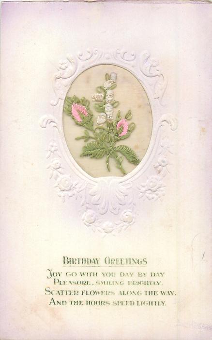 BIRTHDAY GREETINGS pink heather