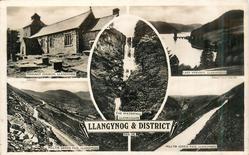 PENNANT CHURCH, LLANGYNOG/THE WATERFALL LLANRHAIDR/LAKE VYRNWY, LLANWDDYN// MILLTIR GERRIG PASS, LLANGYNOG