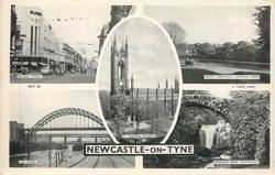 5 insets PILGRIM STREET/PADDY FREEMAN'S JESMOND DENE/ST. THOMAS CHURCH/THE FOUR BRIDGES/JESMOND DENE WATERFALL