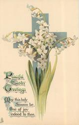 PEACEFUL EASTER GREETINGS single hyacinth