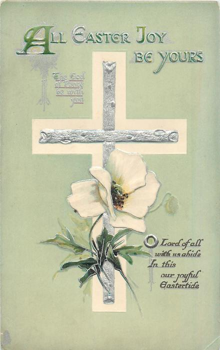 ALL EASTER JOYS BE YOURS bible quote, white anemones