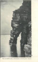 THE GIANT'S LEG, BRESSAY, SHETLAND ISLES