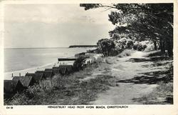 HENGISTBURY HEAD FROM AVON BEACH