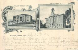 2 insets CHARLES WILLARD LIBRARY/PUBLIC SCHOOL NO.1