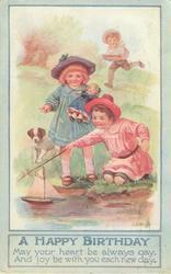 A HAPPY BIRTHDAY  girls sail boat