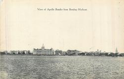 VIEW OF APOLLO BUNDER FROM BOMBAY HARBOUR