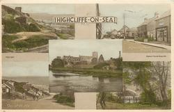 5 insets MOUTH OF GLEN/HIGHCLIFFE PARADE SHOPPING CENTRE/CHRISTCHURCH PRIORY/ TOP OF CLIFFS/ THE WATERFALL, CHEWTON GLEN