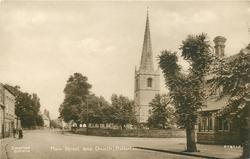 MAIN STREET AND CHURCH