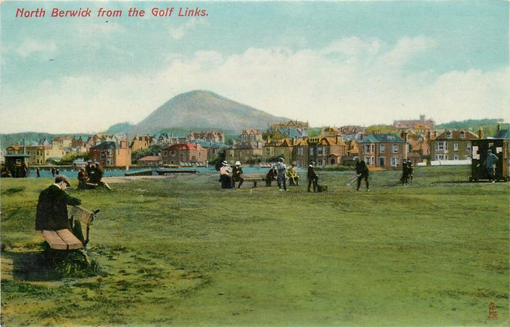 NORTH BERWICK FROM THE GOLF LINKS