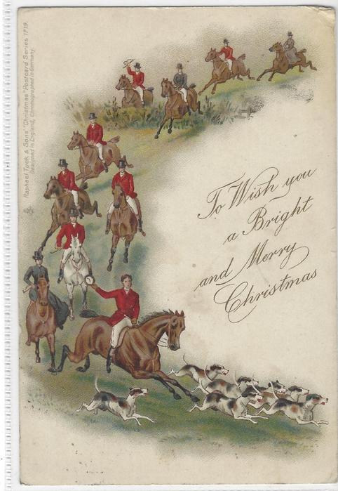 TO WISH YOU A BRIGHT AND MERRY CHRISTMAS  fox hunting