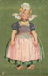 Dutch girl with pink apron