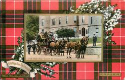 THE ROB ROY COACH AT TROSSACHS HOTEL  FRASER tartan