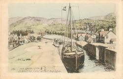 THE LOCKS OF THE CALEDONIAN CANAL AT FORT AUGUSTUS