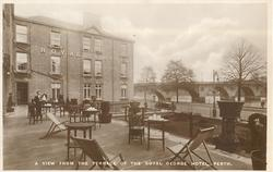 A VIEW FROM THE TERRACE OF THE ROYAL GEORGE HOTEL