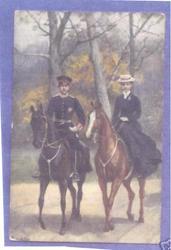 Cecilie, Kronprinzessin on horseback