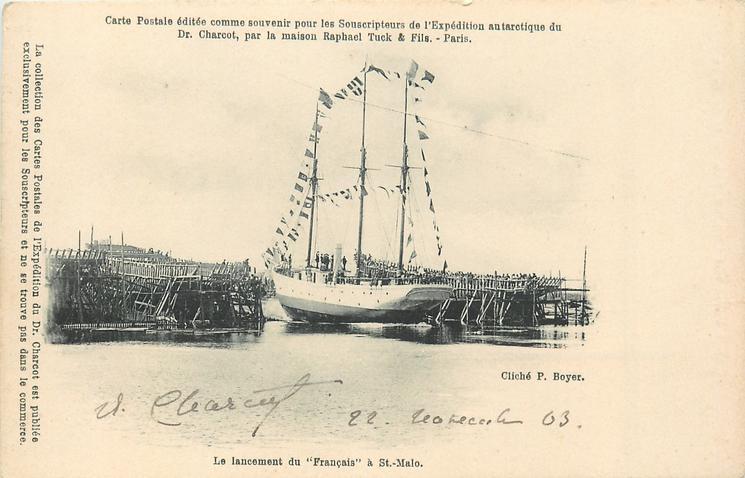 """LE LANCEMENT DU """"FRANCAIS"""" A ST. MALO"""