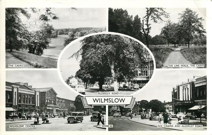 THE CARRS/ THE LIME WALK, THE CARRS/ALDERLEY ROAD/ WILMSLOW CENTRE/REX CINEMA AND ALDERLEY ROAD