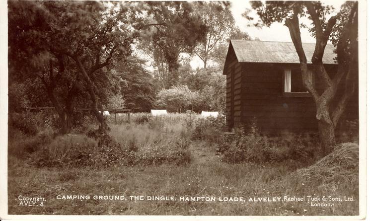 CAMPING GROUND, THE DINGLE. HAMPTON LOADE