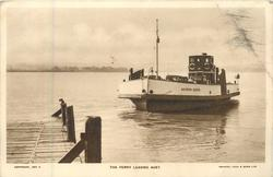 THE FERRY LEAVING AUST