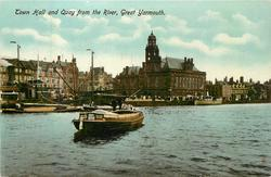 TOWN HALL AND QUAY FROM THE RIVER