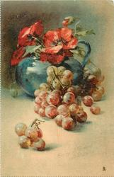 STUDY OF GRAPES AND POPPIES