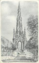 THE SCOTT MONUMENT. (EDINBURGH STREET)